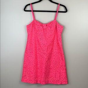 Lilly Pulitzer hot pink lace dress sz 6